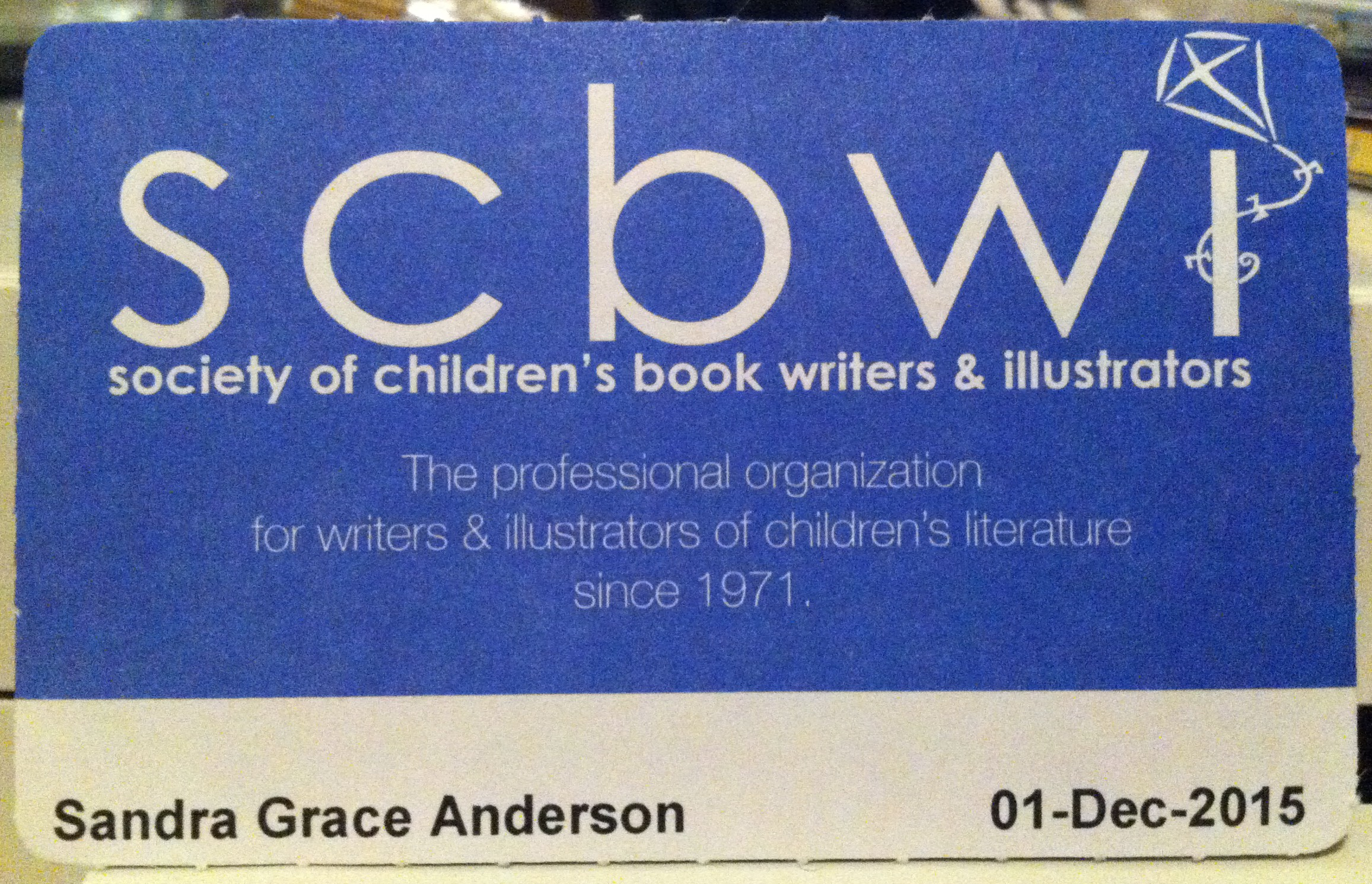 A Member of the SCBWI- Also a Newbie.